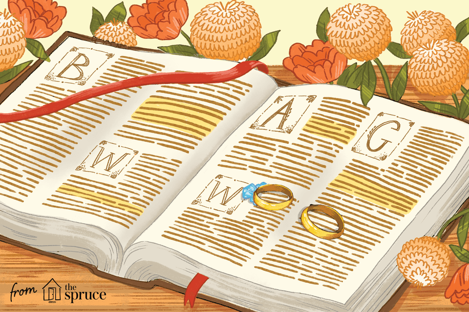 Illustration of bible with rings inside