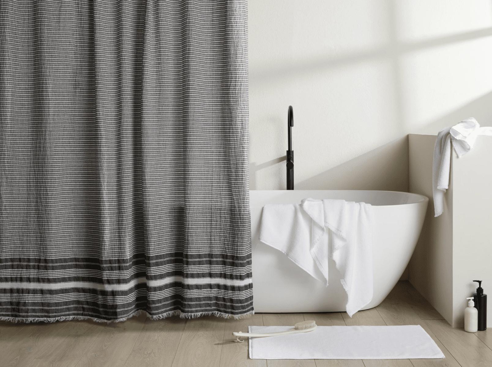 Parachute Striped Shower Curtain