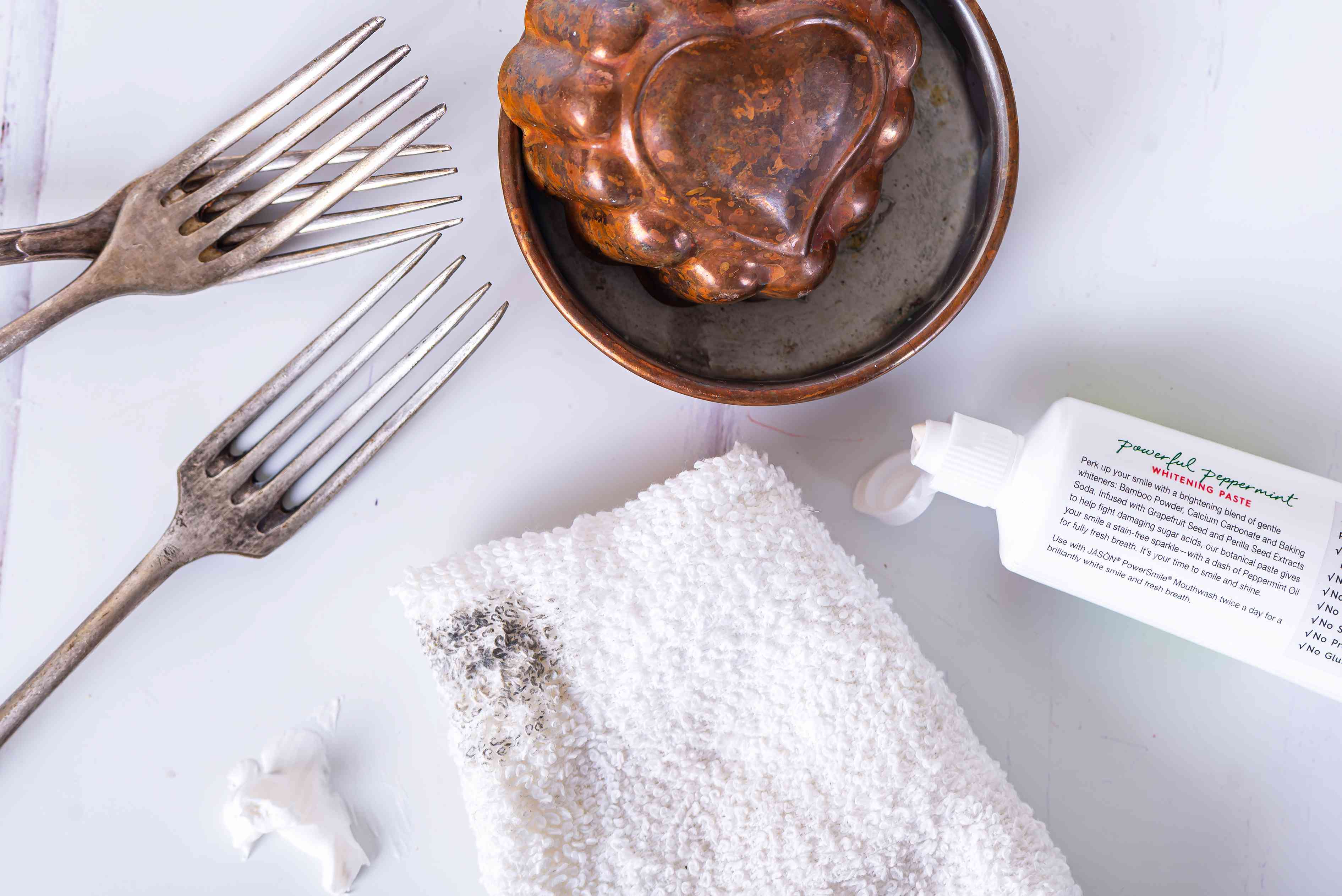 toothpaste can be used to polish silver and copper pots