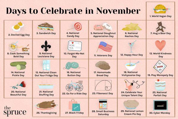 Days to Celebrate in November