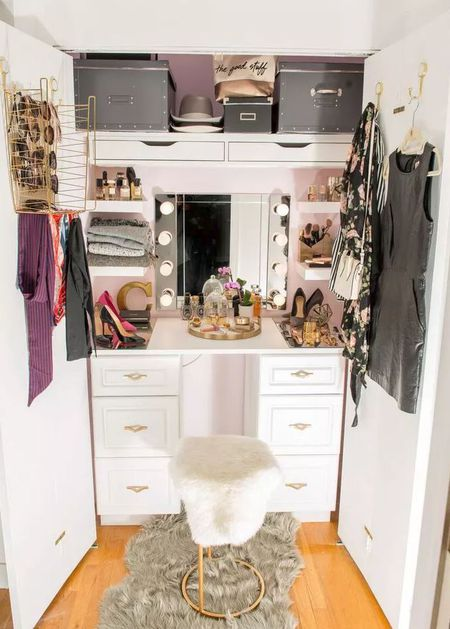 40 Amazing Before And After Closet Makeovers Cool Small Bedroom Closet Design Exterior Remodelling