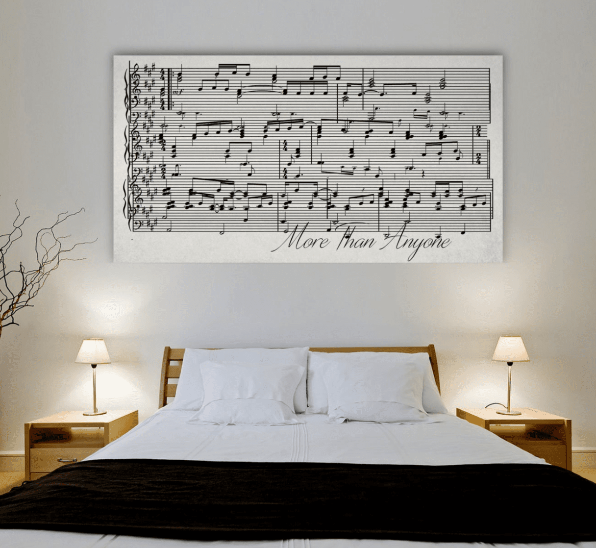 Custom Sheet Music Canvas