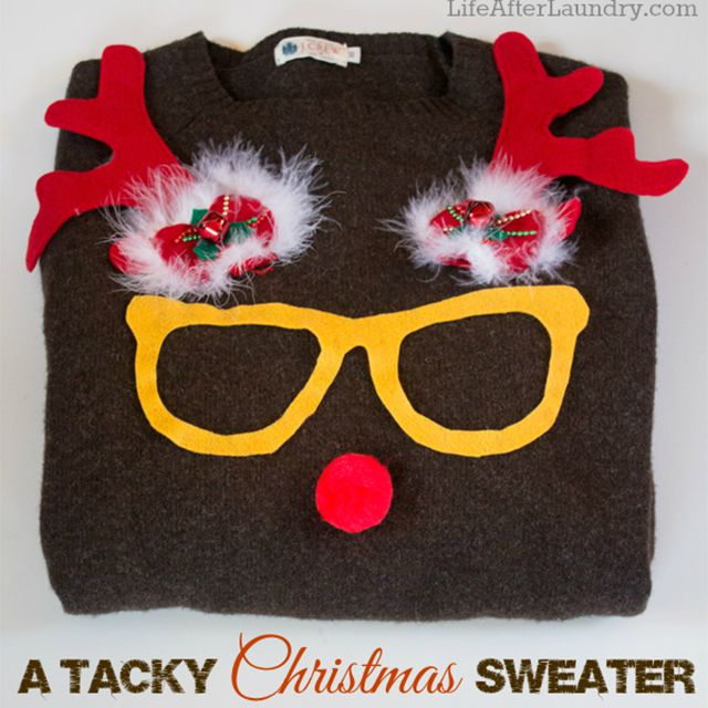 A sweater decorated like a reindeer