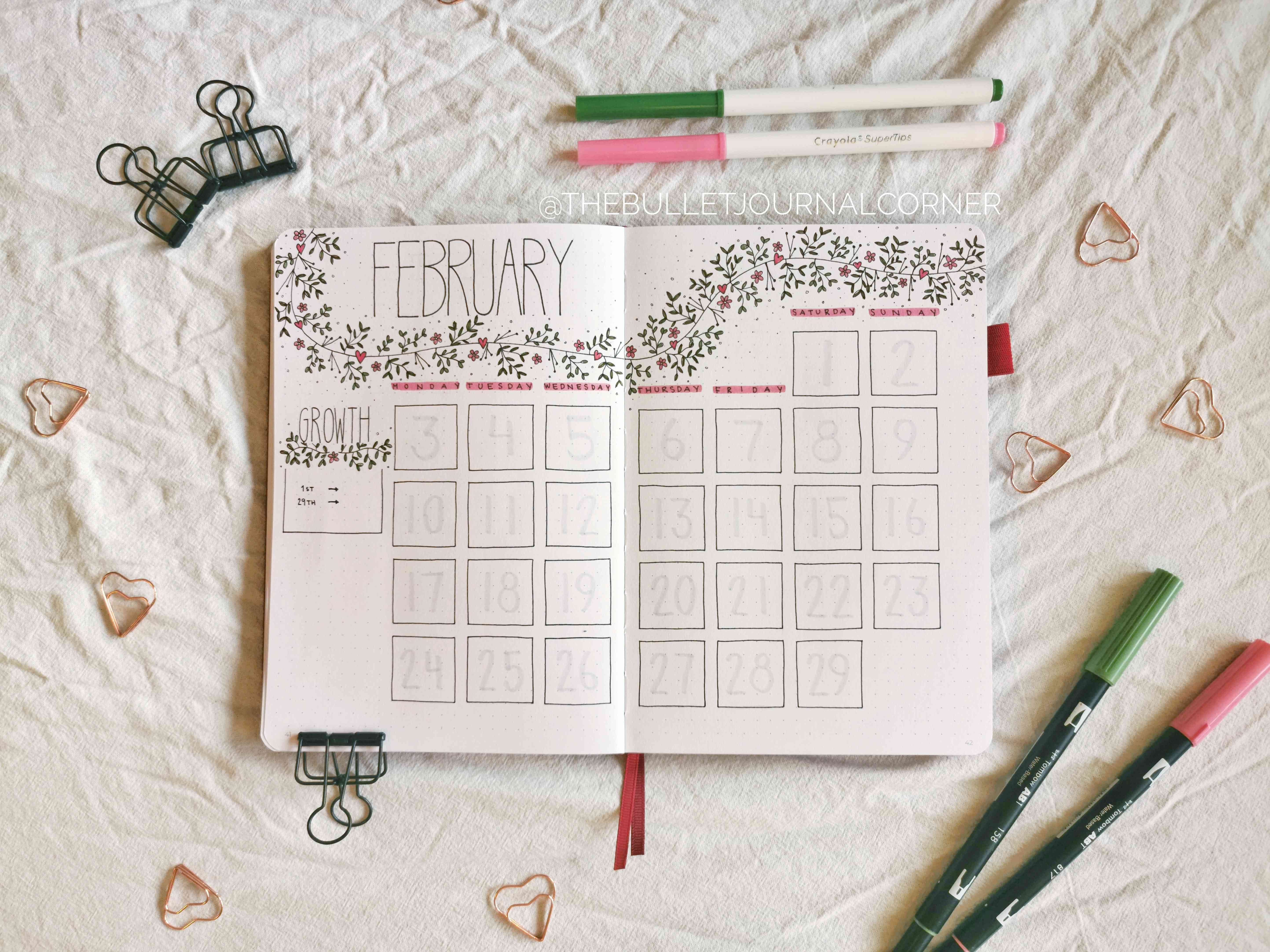 simple bullet journal layout
