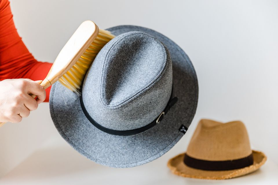 cleaning a wool fedora