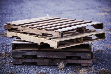 Stack Of Project Ready Wood Pallets