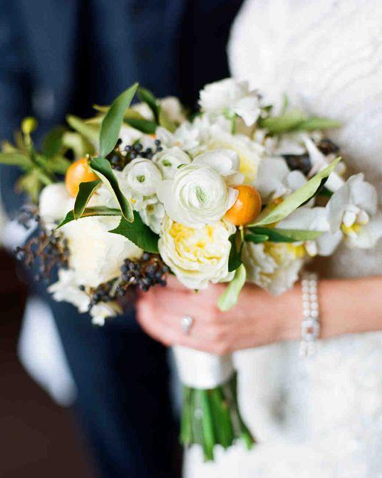 Kumquat y Ramo de boda de invierno verde