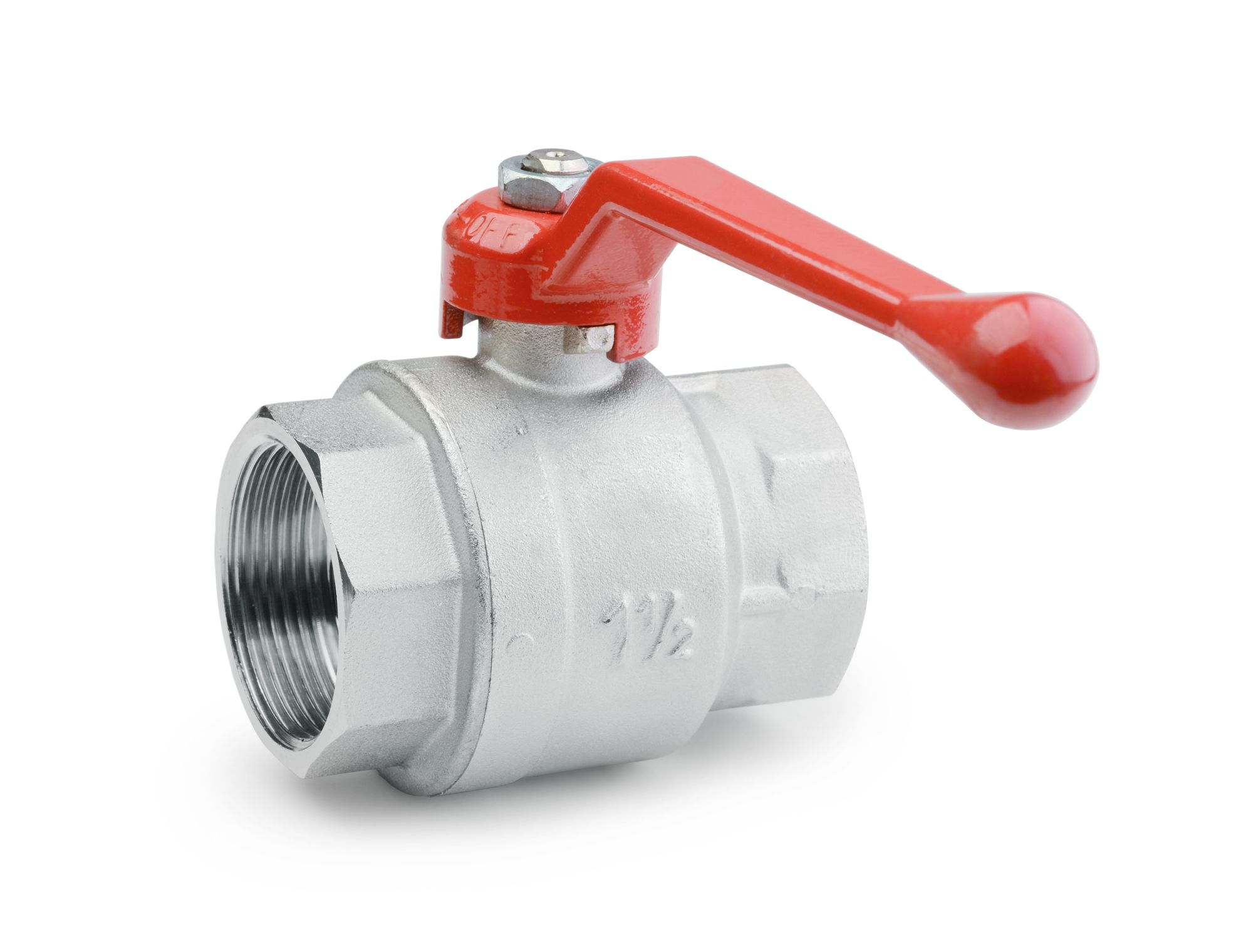 Ball valve isolated on a white background