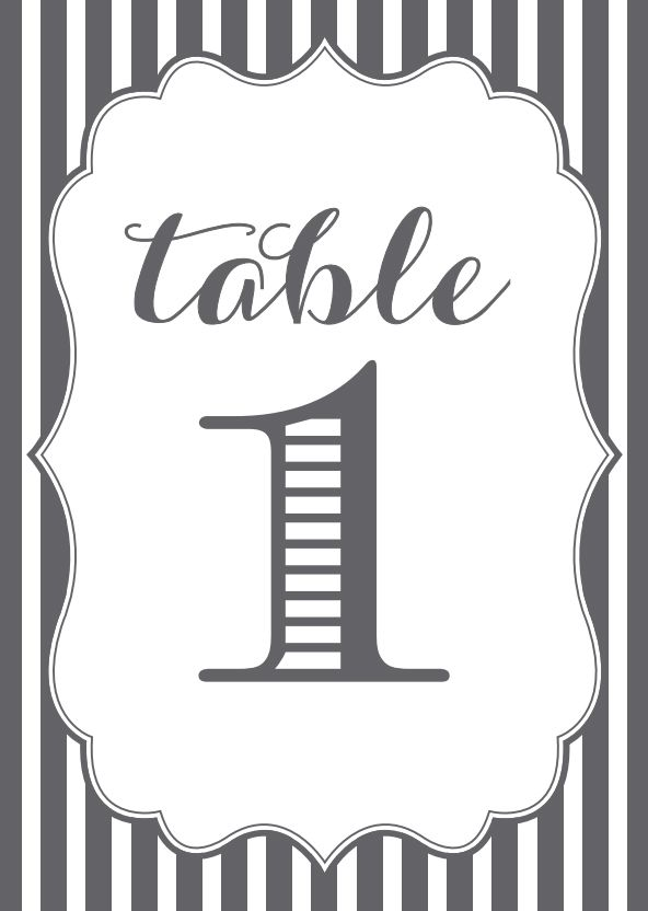 template for table numbers