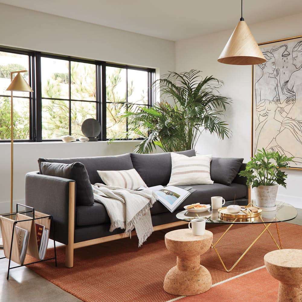 DWR sofa living room
