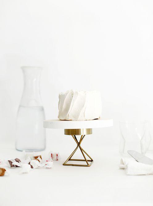 Soporte de pastel de bricolaje moderno
