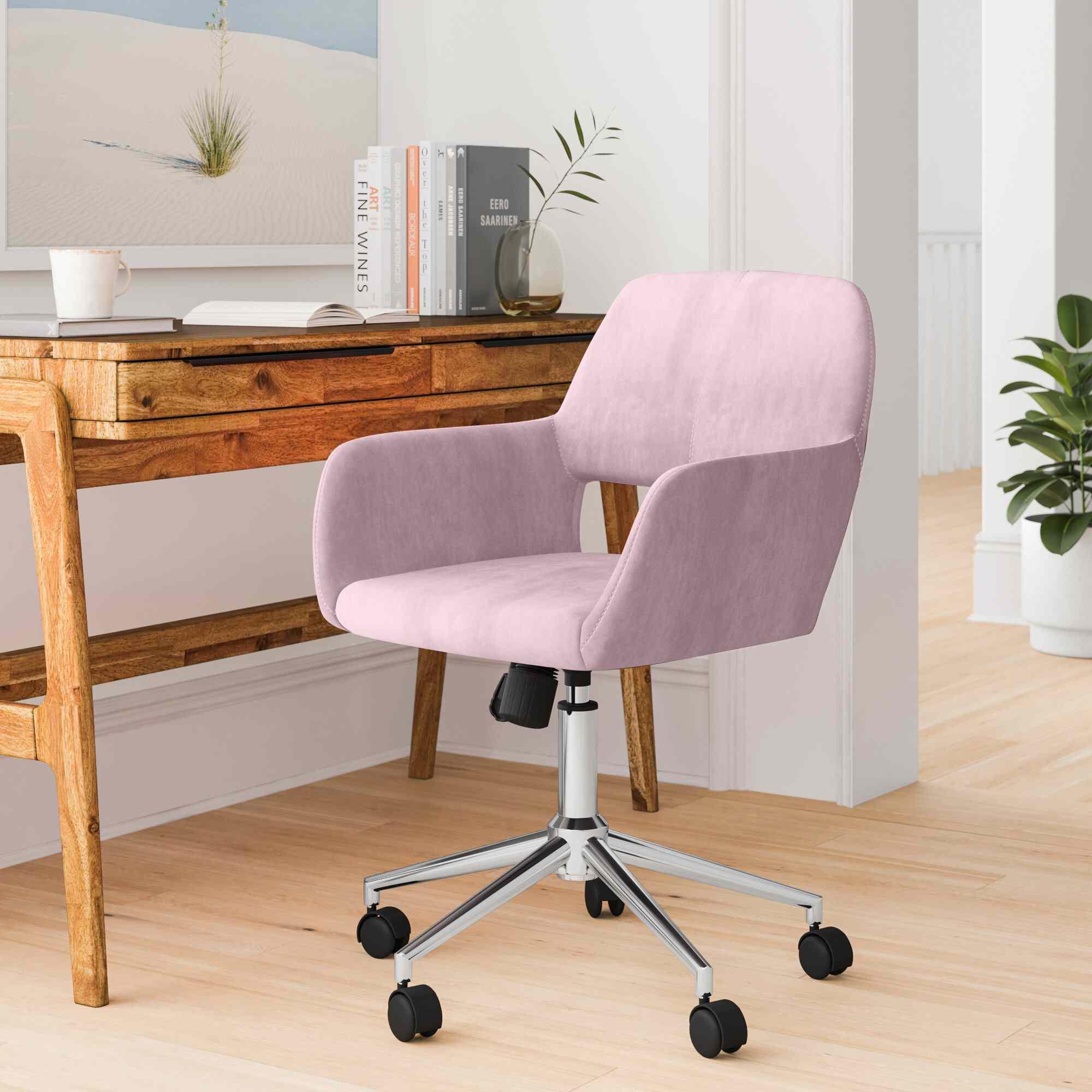 Gold Flamingo Elliana Velvet Task Chair