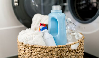 laundry items in a basket