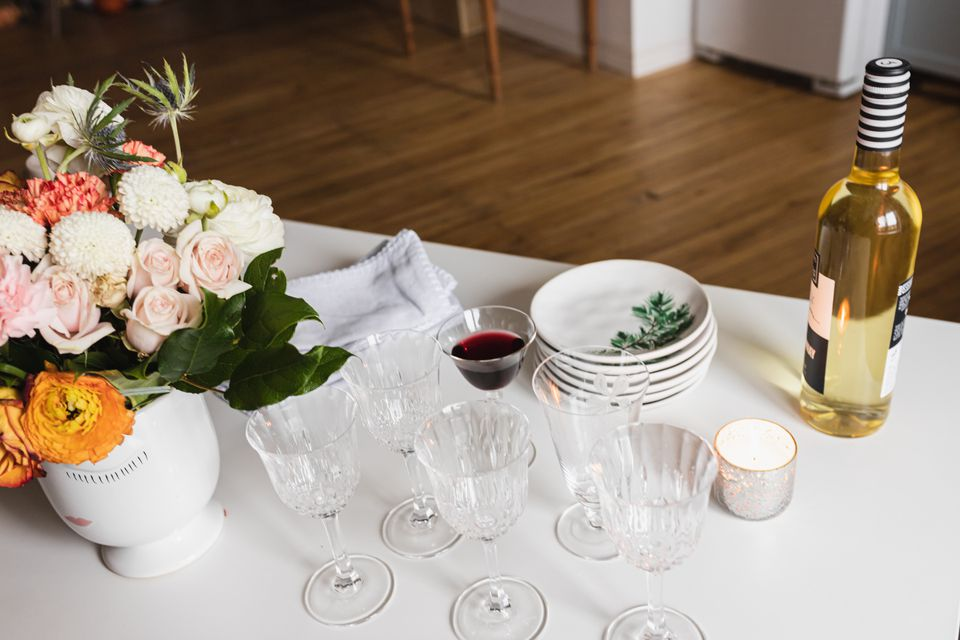 wine bar at a wedding