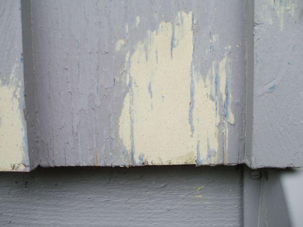 Fix Peeling Paint - Sanded Wood Filler