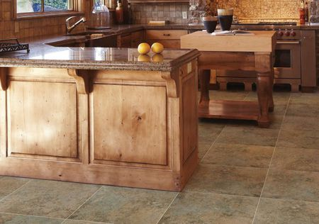 Kitchen Flooring Pictures - Hardwood, Vinyl, and More