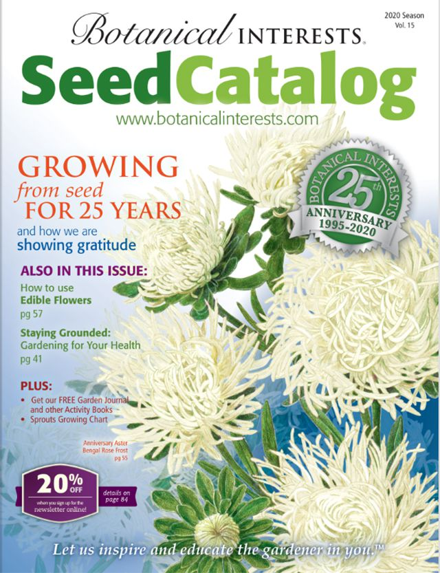 The cover of the 2020 Botanical Interests seed catalog