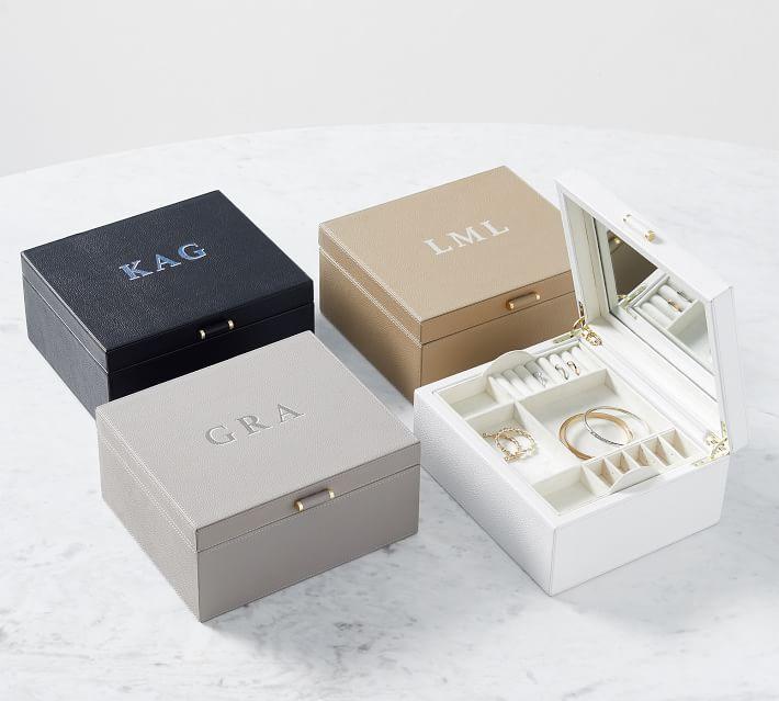 Quinn Medium Leather Jewelry Box