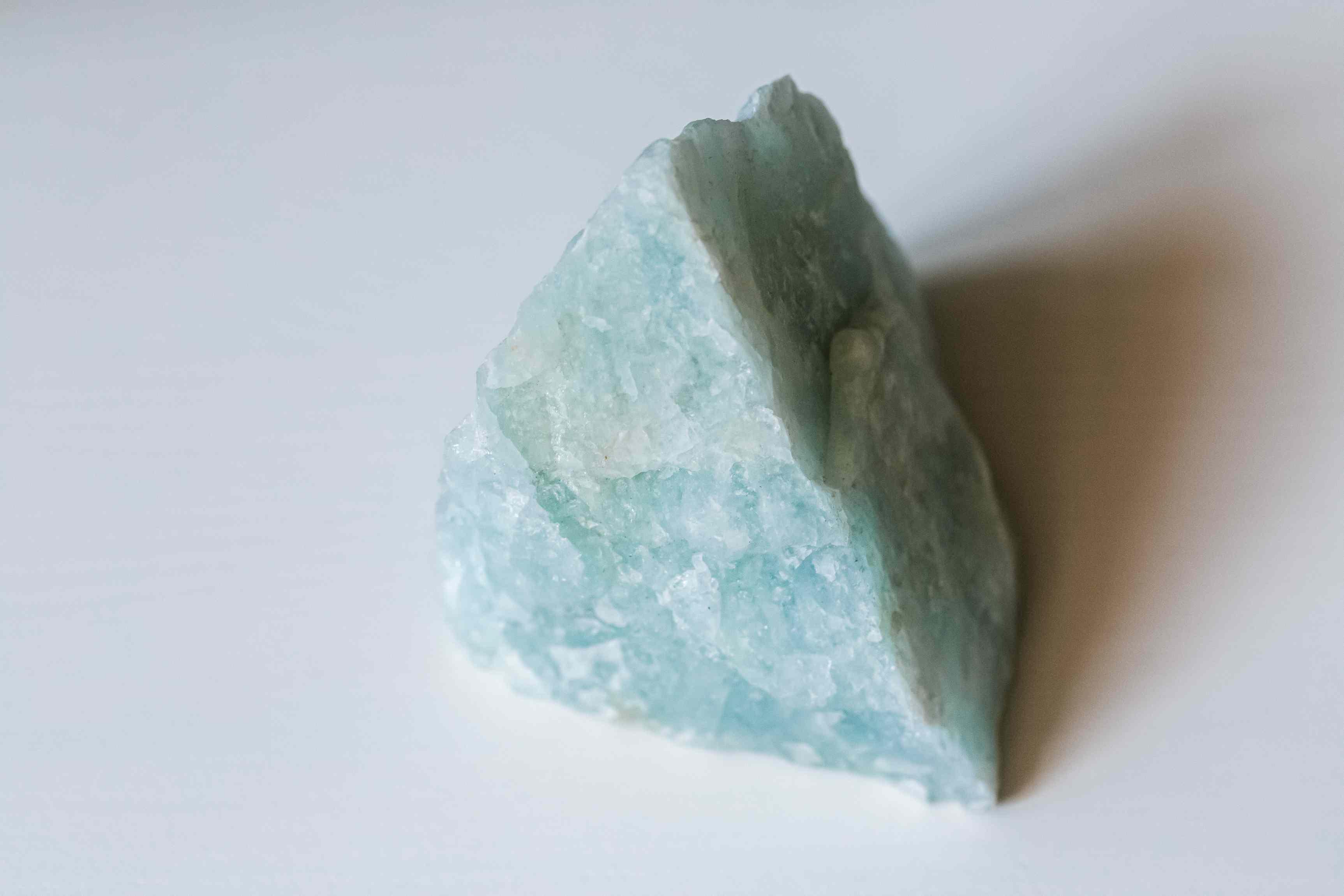 closeup of an aquamarine crystal