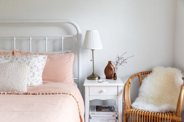 neat, organized bedroom