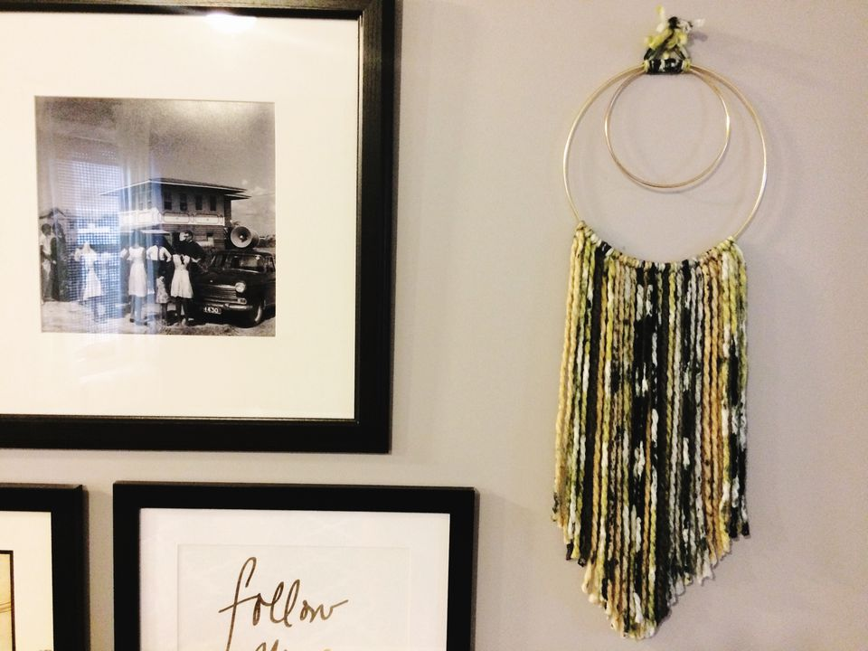An Artistic DIY Wall Hanging With A Woven Feel