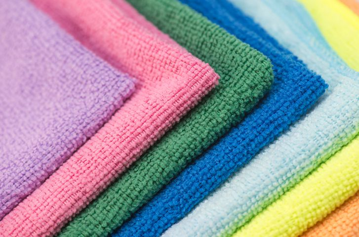 Colorful microfiber cloths