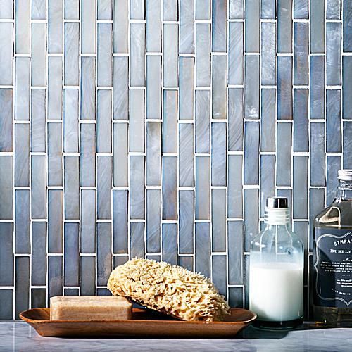 Glass tile is perfect for your bathroom