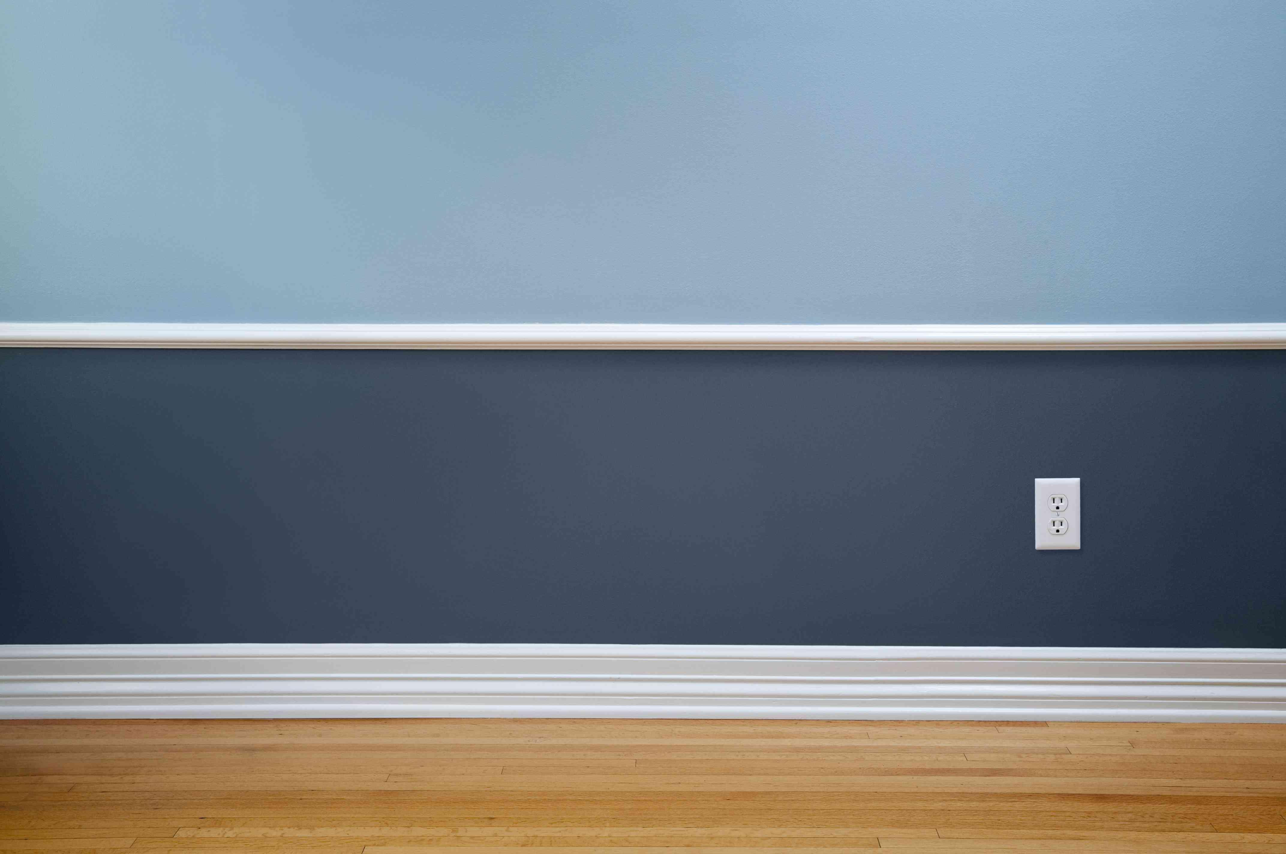 Empty Room With Wall Plug