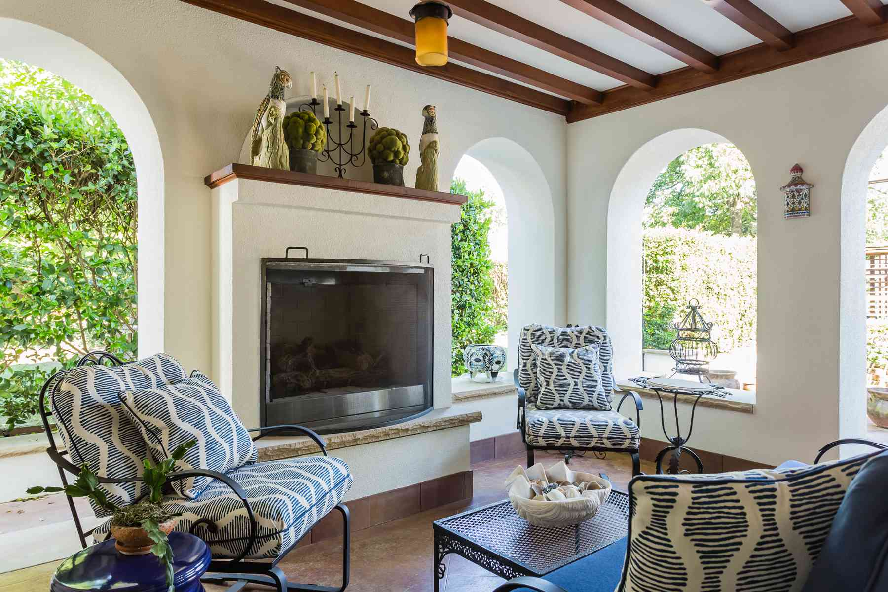 Loggia in a Spanish Colonial Home