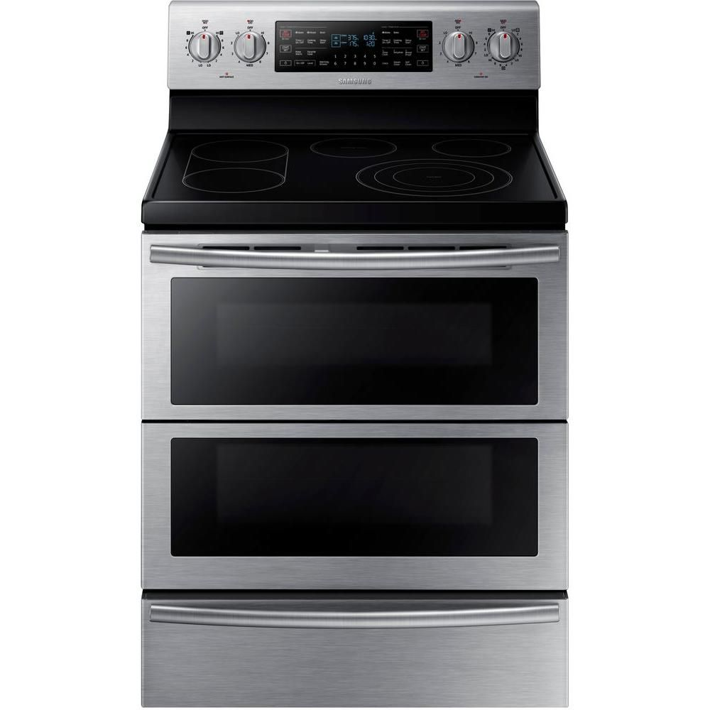 Best Double Oven Stove Samsung 5 9 Cu Ft Stainless Burner Flex Duo Range