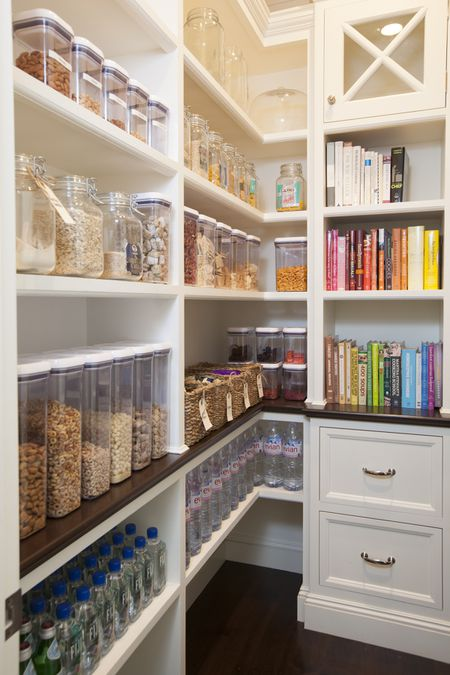 Color Coordinated Walk In Pantry