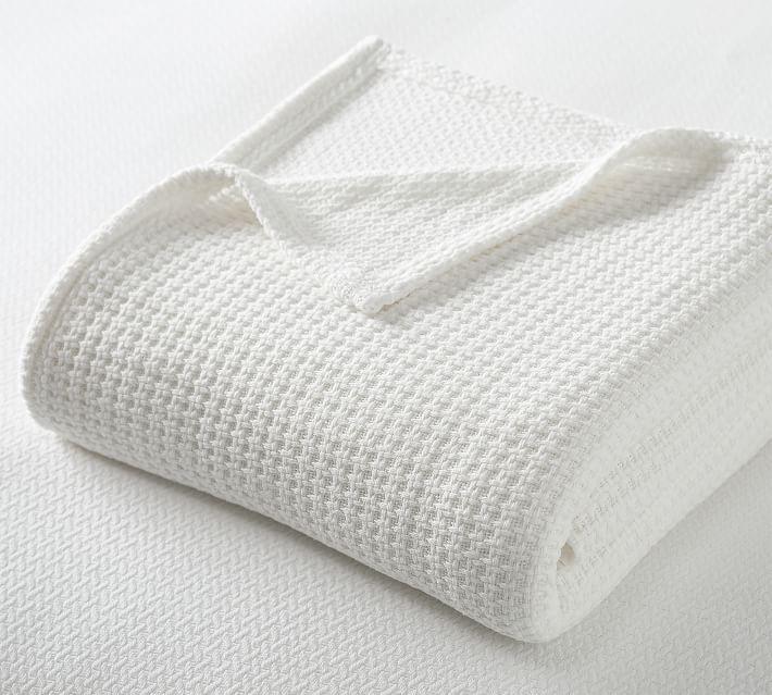 Pottery Barn SleepSmart Temperature-Regulating Basketweave Blanket