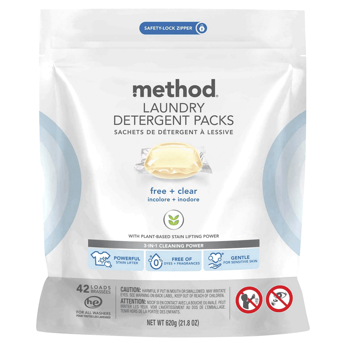 Method Laundry Detergent Packs Free + Clear