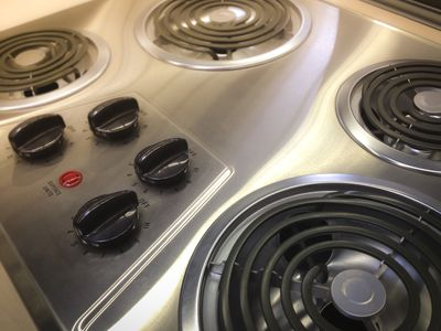 Stainless steel electric coil stovetop