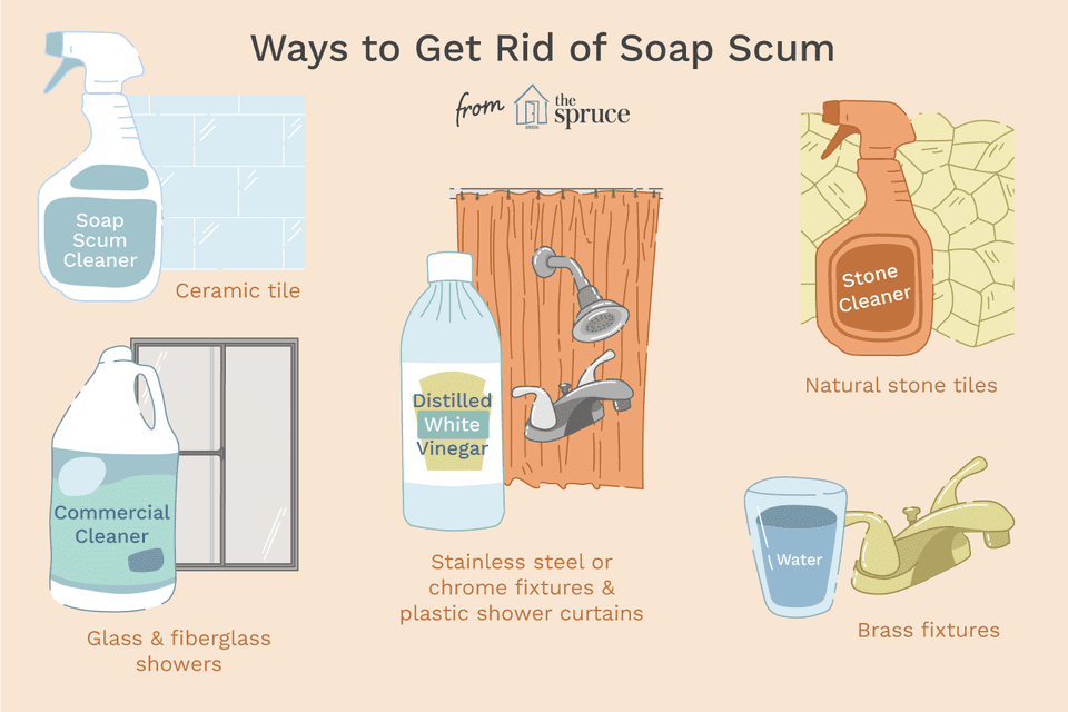 how to get rid of soap scum