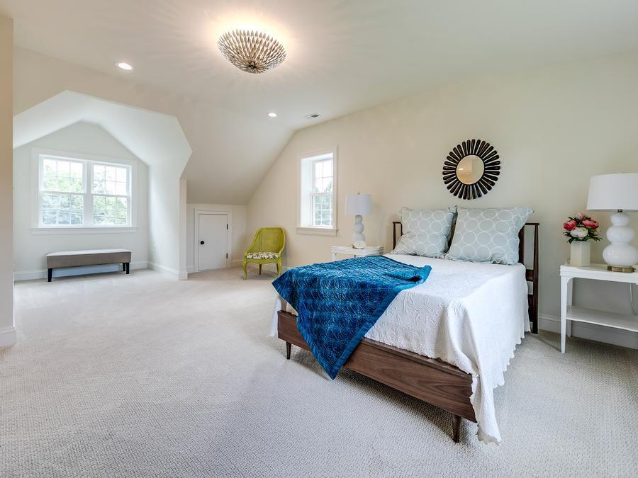 Charming attic master bedroom