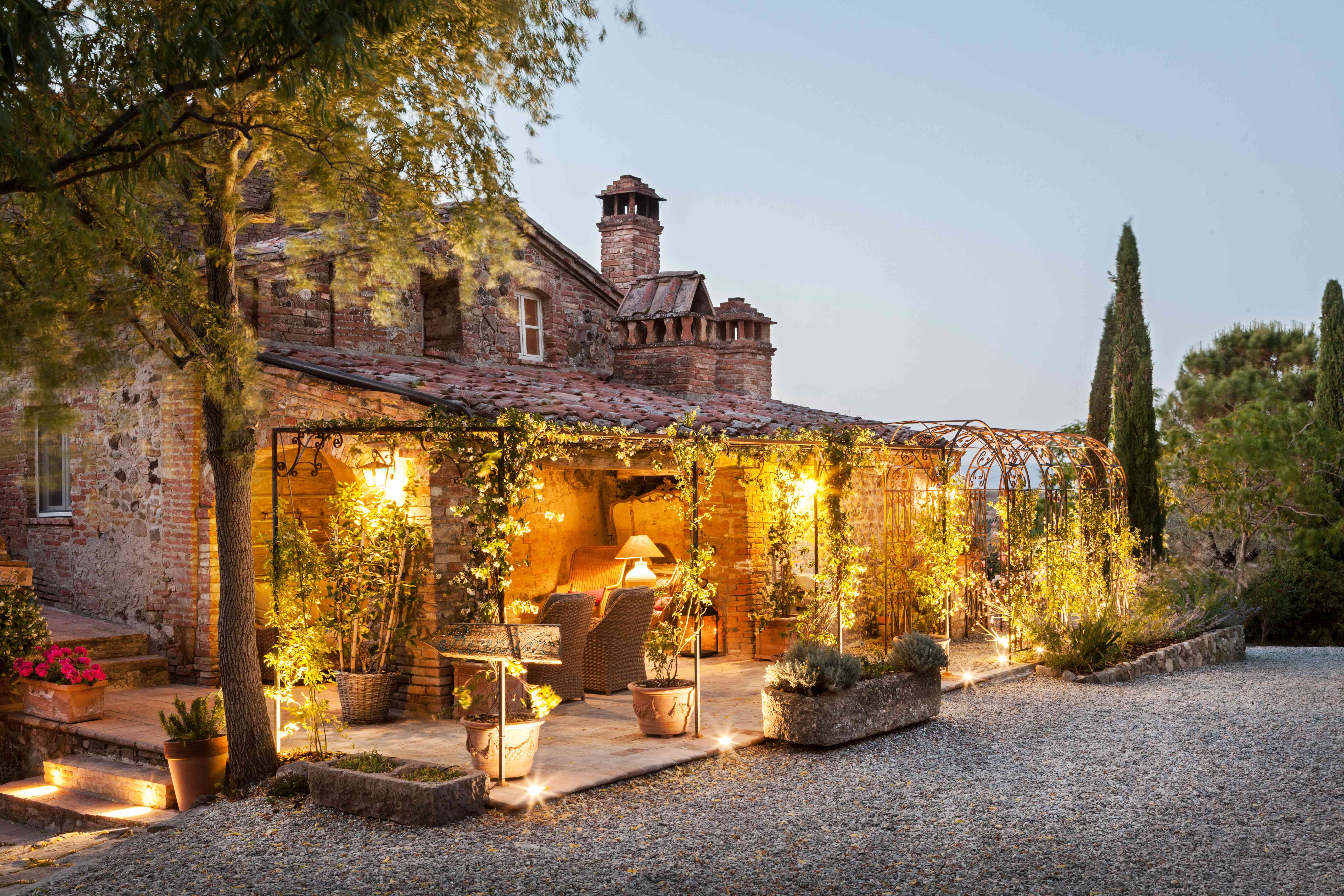 Outdoor patio in Tuscany.
