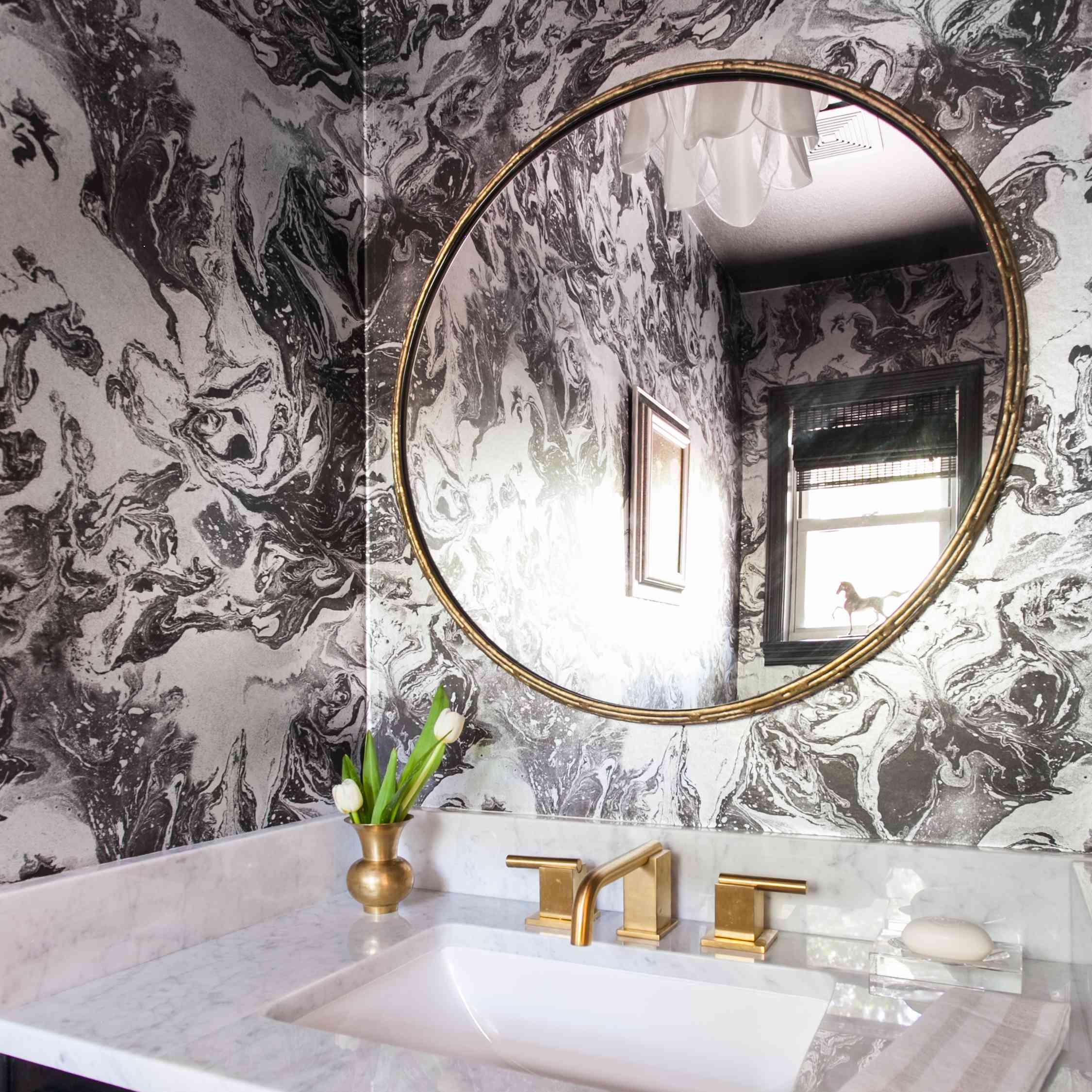 Powder room by Erin Williamson Design