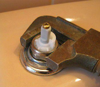 faucet repair - remove retaining nut