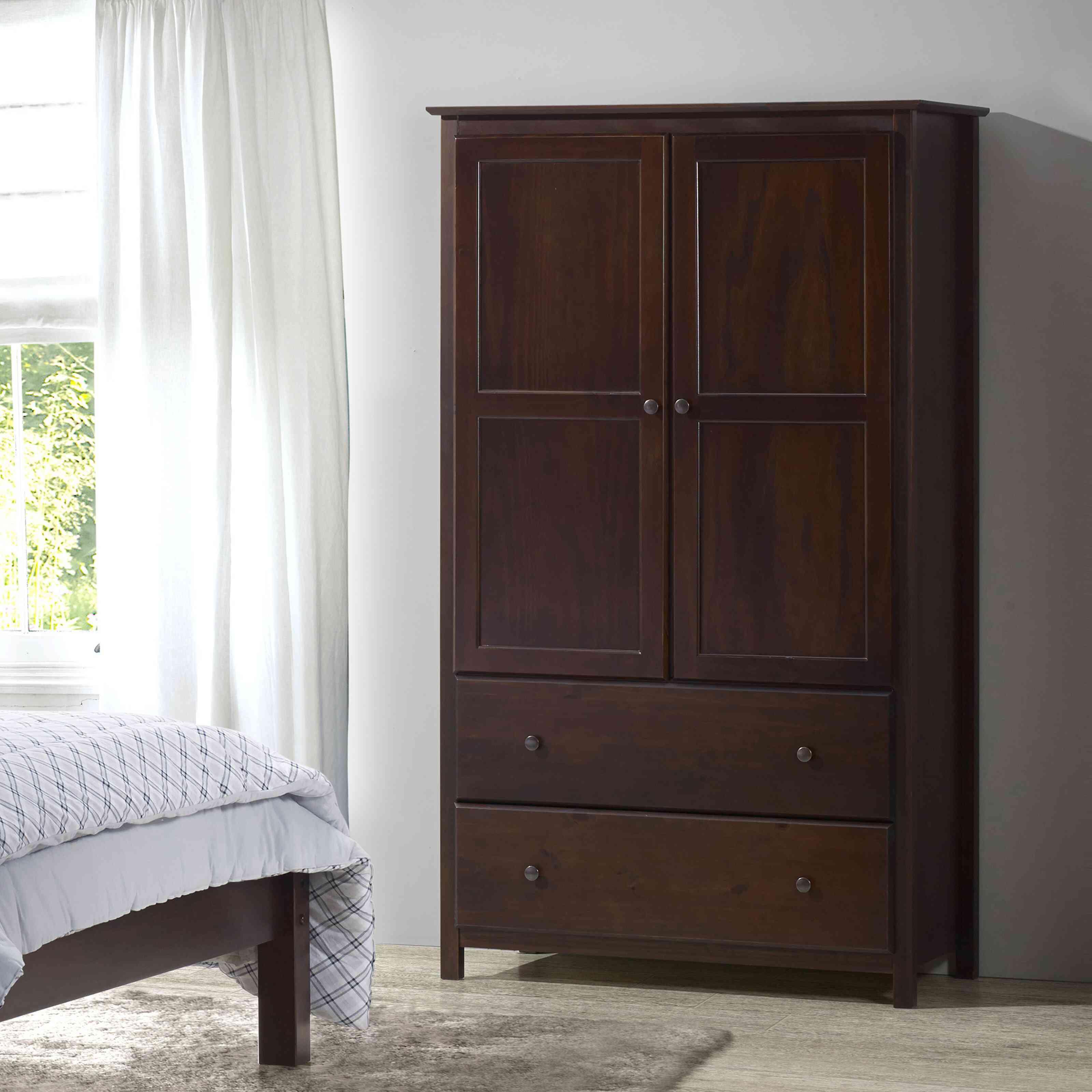 Grain Wood Furniture Shaker Wardrobe Armoire