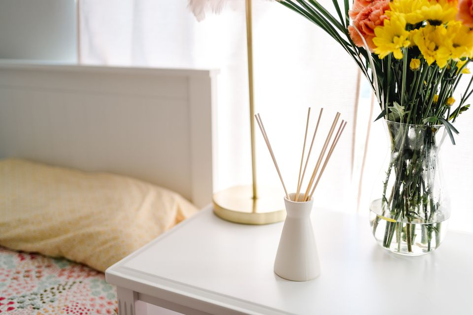 room diffuser and flowers