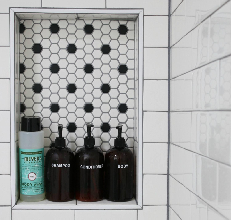 Built-In Shower Shelves