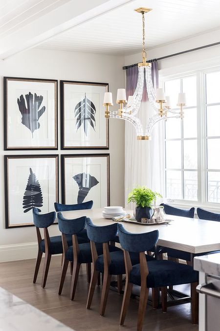 Dining Room With Large Art Gallery Wall