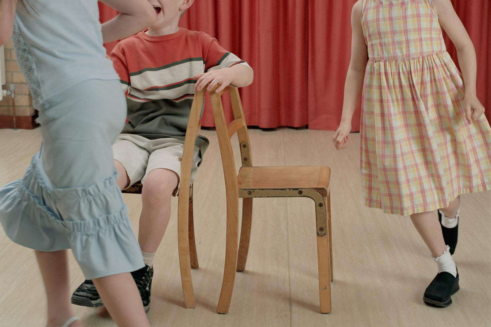 Children Play Musical Chairs