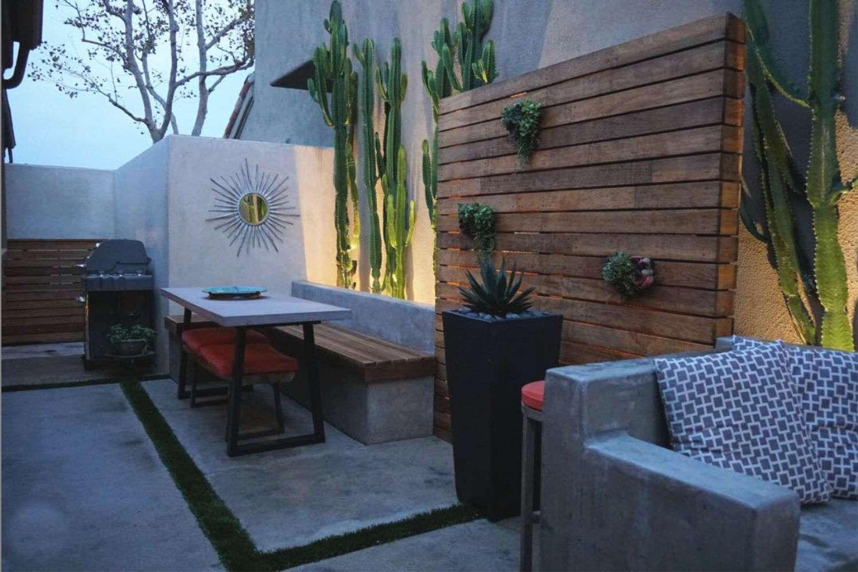 iluminación de patio exterior