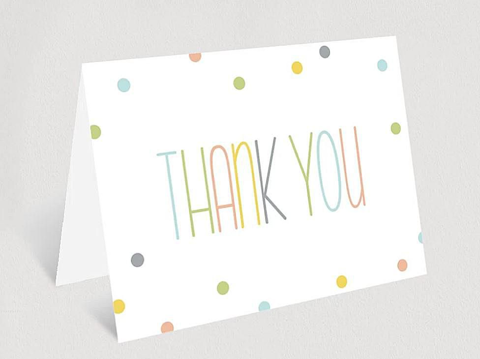 thank you card template from Bliss Paper Boutique