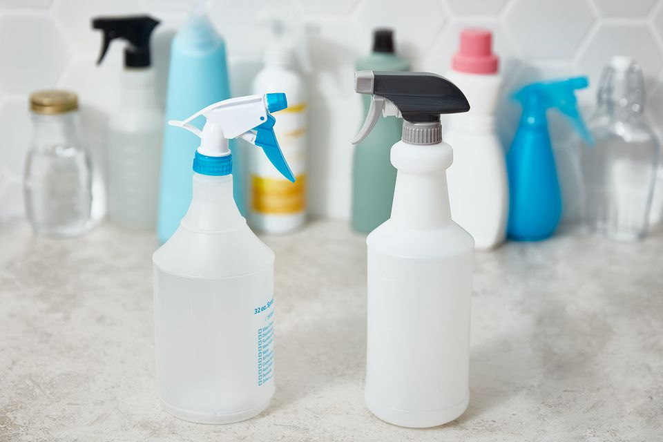 a variety of cleaners, disinfectants, and sanitizers