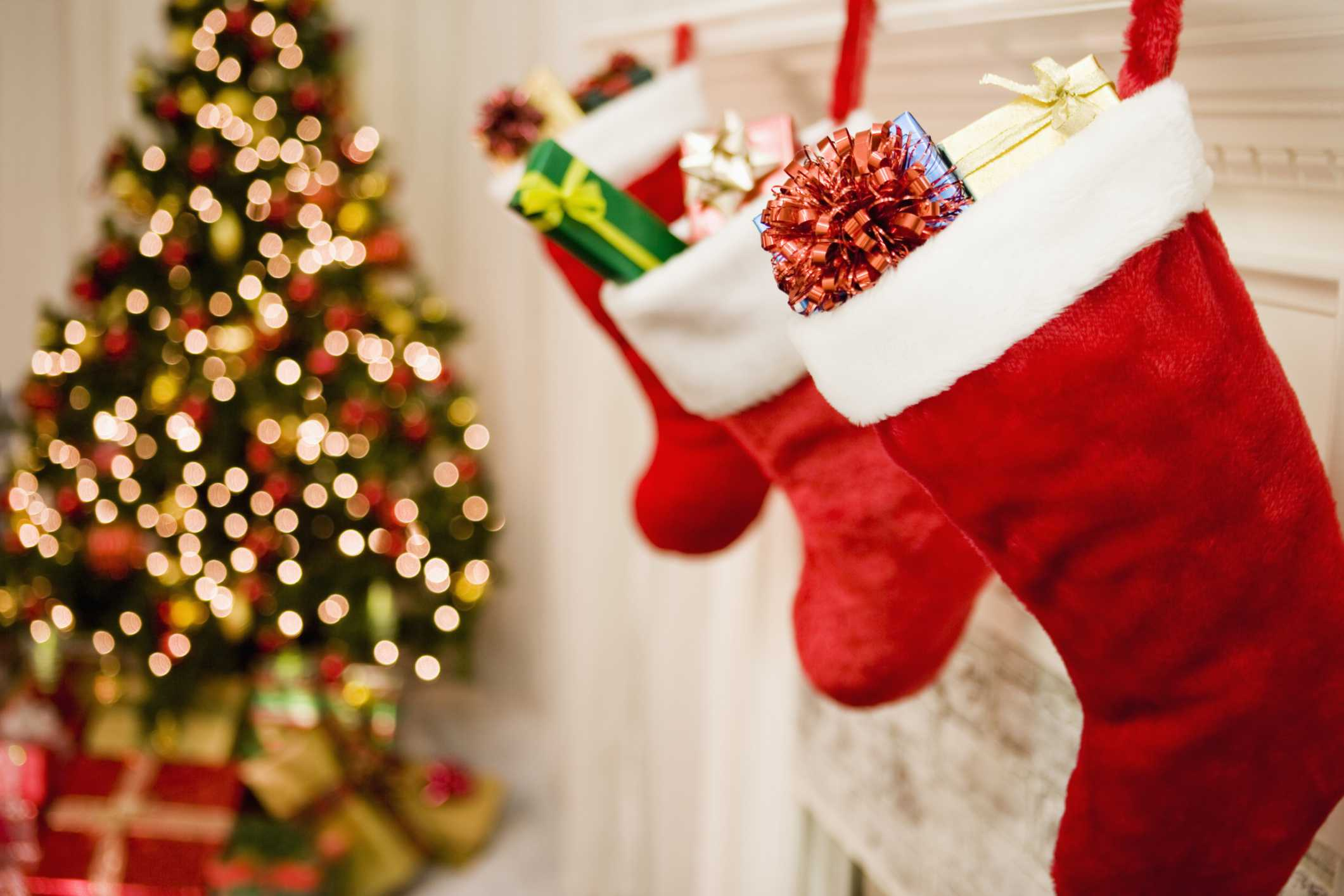 Gifts in christmas stocking