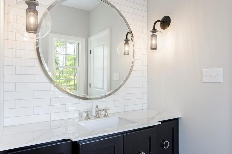 13 beautiful bathrooms with large mirrors - Mirror Bathroom