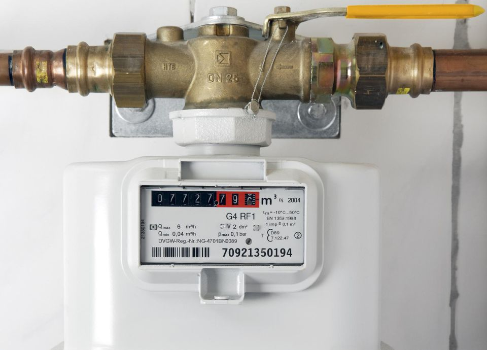 gas meter supply valve